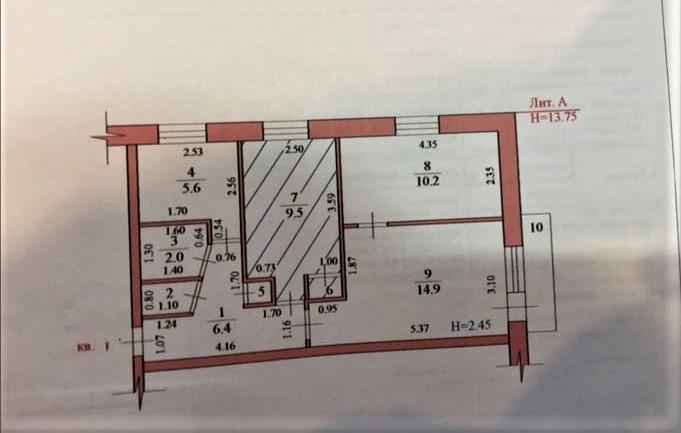 Продажа 3-комнатной квартиры, Новый Рогачик, улица Озерная,  дом 46